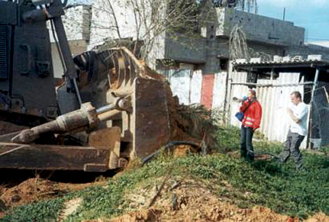 Rachel Corrie and the bulldozer