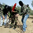Firing mortars in Gaza. (AP)