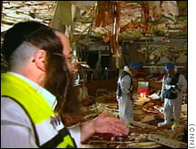 The Park Hotel dining room after the blast